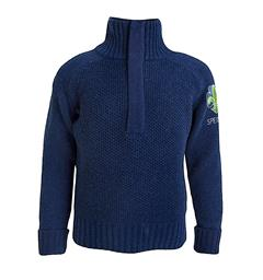 Speidergenser i ull til barn Tufte Bambull Blend Sweater Zip Kid 13-1