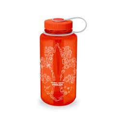 Speiderflaske Nalgene Wide Mouth 1 liter Orange