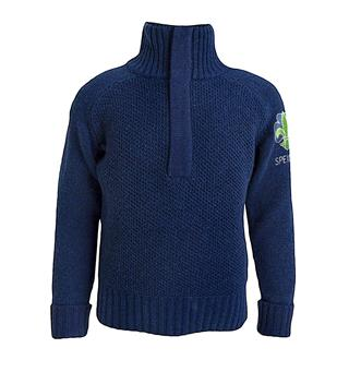 Speidergenser i ull til barn Tufte Bambull Blend Sweater Zip Kid