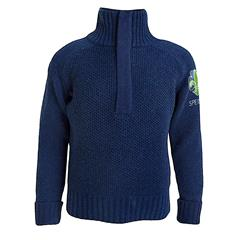 Speidergenser i ull til barn Tufte Bambull Blend Sweater Zip Kid 9–10