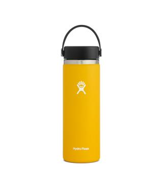 Termoflaske med stor åpning Hydro Flask 20 oz Wide Sunflower