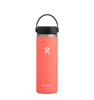 Termoflaske med stor åpning Hydro Flask 20 oz Wide Hibiscus