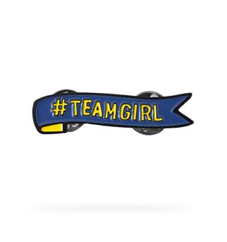 Pins #TeamGirl WAGGGS Team Girl Pin
